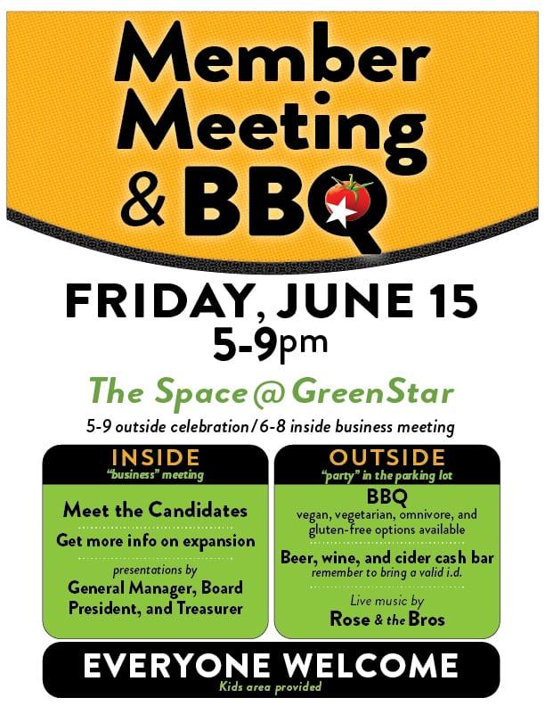 member meeting & bbq