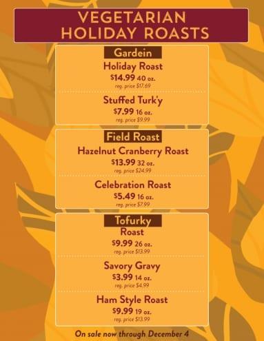Vegetarian Holiday Roasts