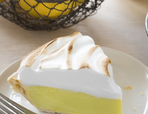 Celebrate Pi(e) Day with Aquafaba Lemon Meringue Pie