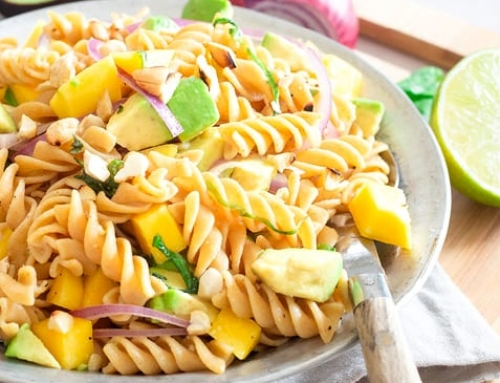 Mango Avocado Pasta Salad