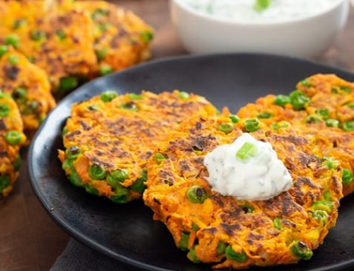 Carrot-Pea Fritters