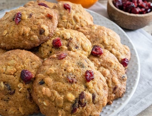 Tangerine Cranberry Oatmeal Cookies