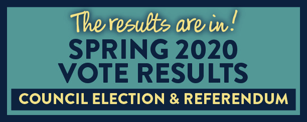 Click here for the Spring 2020 Vote results