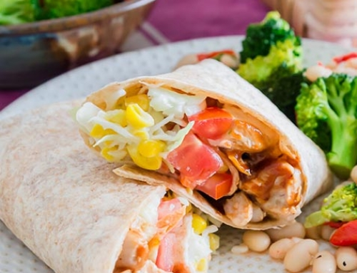 Barbecued Chicken Wrap