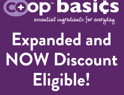 Co+op Basics Expanded and Now Discount Eligible
